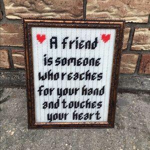 Handmade Framed Friend Craft Sign